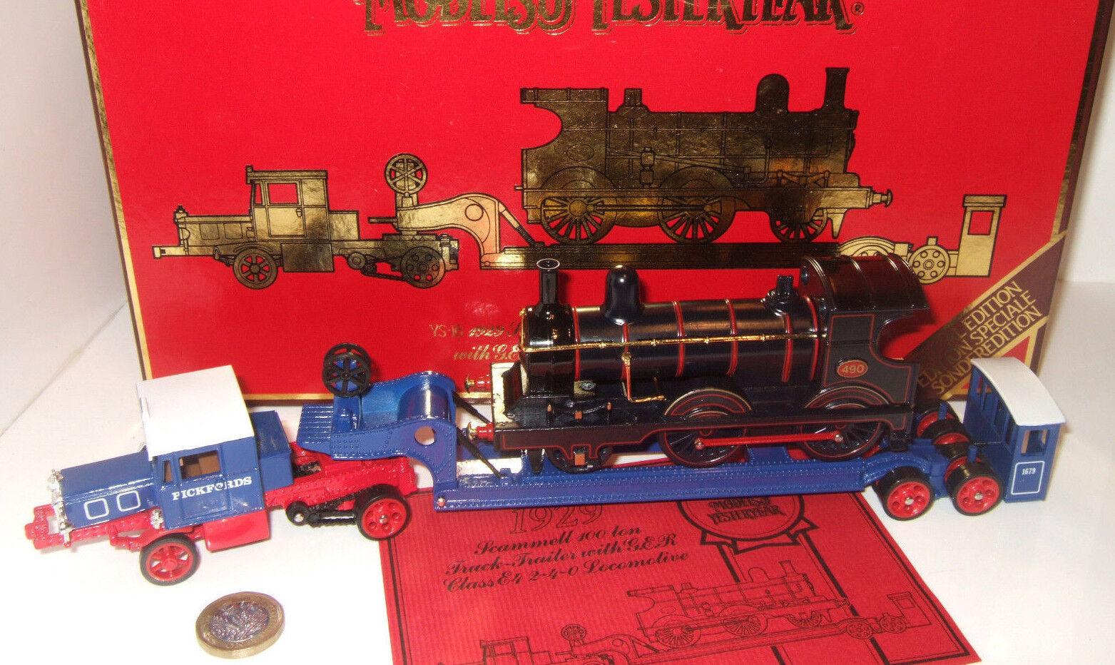 forma única YS-16 1929 Scammell Camión de 100 toneladas-Remolque + + + ger E4 clase 2-4-0 locomotora de Cochega.  Entrega gratuita y rápida disponible.