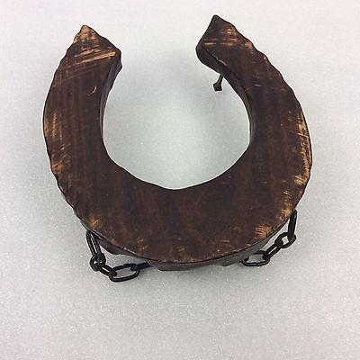 Gancho En Forma De Zapato De Caballo de Madera Vintage Rack-comprado en una francesa Brocante-Treen