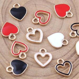 10pc-Enamel-Love-Heart-Small-Pendant-Charm-DIY-Earring-Bracelet-Making-1048H