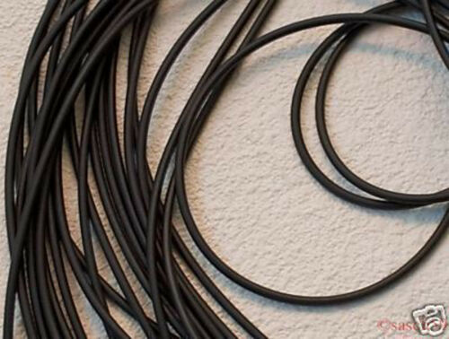 Kautschukband Kautschukkette Kautschukschnur 4mm schwarz rund 1m Kautschuk NEU*