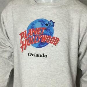 Planet-Hollywood-Orlando-Mens-Crewneck-Sweatshirt-Sz-L-Vintage-90s-Made-In-USA