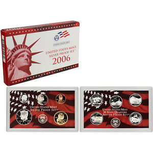 2006-US-MINT-SILVER-PROOF-SET-BOX-COA-10-COINS