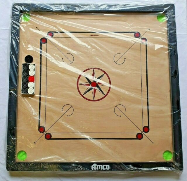 "BEST PRICE - LARGE  Carrom Board 32"" x 32"" - Wooden  Games - FULL PREMIUM  SET"