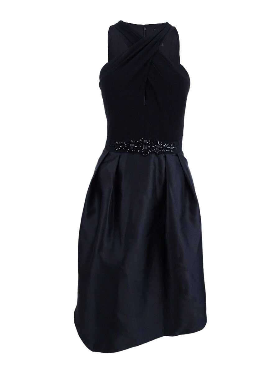 Adrianna Papell Woherren Embellished Fit & Flare Dress