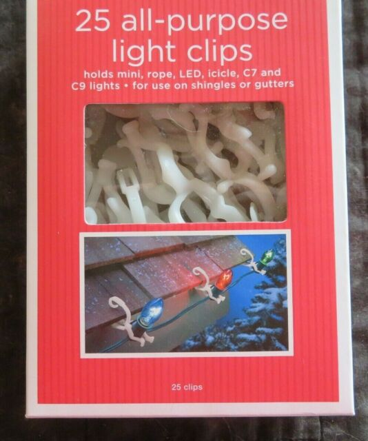 Clips for Christmas Xmas String Lights Outdoor//indoo 25 x Gutter Hanging Hooks