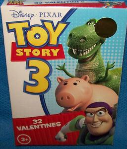 Valentines Day Cards Box Of 32 Disney Pixar Toy Story 3