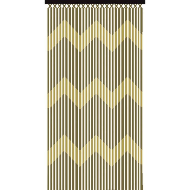 Jvl Wooden Bamboo Beaded Patterned Fly Screen Door Curtain 90 X