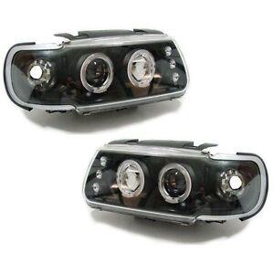 VW-Polo-Mk4-6N-94-99-Black-Projector-Angel-Eye-Headlights-1-pair