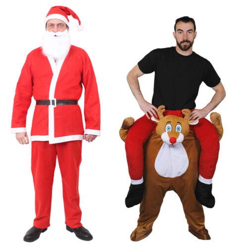 Adultes Santa Claus PICK ME UP Costume Père Noël Noël Fancy Dress Lot