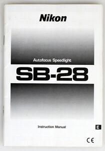 nikon sb 28 speedlight instruction manual ebay rh ebay com Nikon SB 28 Compatibility nikon flash sb 28 manual