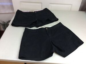OLD-NAVY-Chino-Black-Shorts-Set-of-two-3-5-amp-5-Inseam-Women-s-Size-6