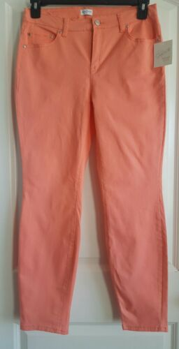 Pants Jeans Women/'s Coral Skinny Soft Cotton Comfort Jaclyn Smith 8 14 NWT New