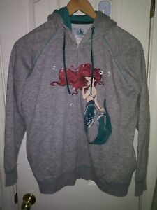 2013-Disney-XL-ART-OF-ARIEL-The-Little-Mermaid-Fashion-Zip-Jacket-Hoodie-Rare