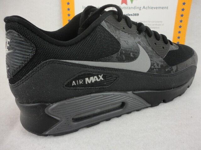 Nike Air Max 90 Premium, Black   Reflective Silver, 2013 Rare  , Size 13