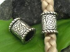 Keltischer Knoten Bartperle Dreadlocks Silber 925 Bartschmuck Ø 8mm Kelten