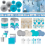 Boys Baby Arrival Blue Party Decorations Tableware Plates Tablecloth Cup Banner