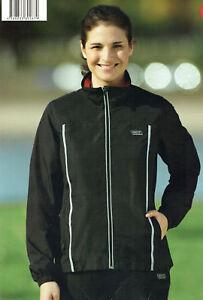 Damen-Laufjacke-Walkingjacke-Sportjacke-Jacke-wind-wasserabweisend-schwarz-rot