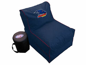 Super Details About Adelaide Crows Afl Large Foldable Lounge Bean Bag Chair With Cooler New Machost Co Dining Chair Design Ideas Machostcouk