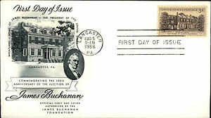 1956-USA-US-Cover-Stamp-Issue-James-Buchanany-Wheatland-Cancel-Lancaster-PA