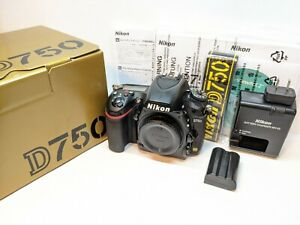 Nikon D750 Digital SLR Camera Body + Battery + Charger - LCD NOT WORKING !!