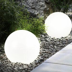 Détails sur Set de 2 luminaires solaires LED extérieur éclairage jardin boule lumière
