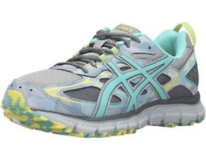 huge discount d8ab0 62eea Details about Asics Womens Gel Scram 3- Gray/Teal/Yellow