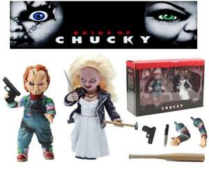Bride-of-Chucky-Tiffany-and-Chucky-Deluxe-Figure-Box-Set-Child-039-s-Play-Horror