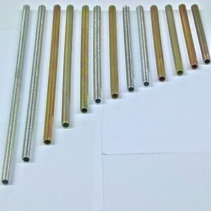 2 X M10 1mm Fine Pitch Threaded Nipple Tube In Pre Cut