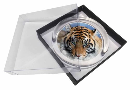 AT-15PW Bengal Tiger Glass Paperweight in Gift Box Christmas Present