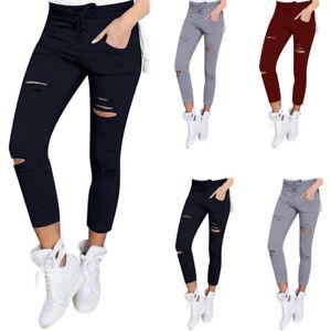Women-Skinny-Ripped-Pants-High-Waist-Stretch-Slim-Pencil-Trousers-Women-Pants