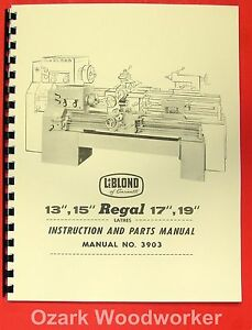 leblond regal lathe manual image is loading leblond regal 13 034 15 034 17 034