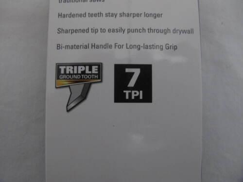 "7 TPI NEW Drywall Jab Saw 7/"" Hardened Triple Ground Teeth Sharpened Tip 1"