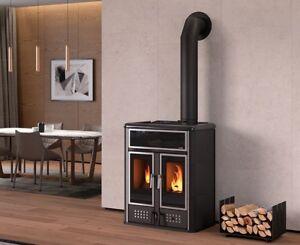 Termostufa pellet legna solo riscaldamento klover for Stufe pirolitiche per riscaldamento