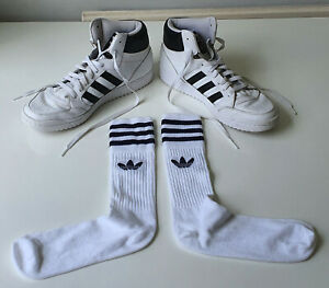 Sacrificio hormigón pérdida  Adidas White Tube Retro '80s Sports Socks - Lads Mens UK Size 7-11 - Great!  | eBay