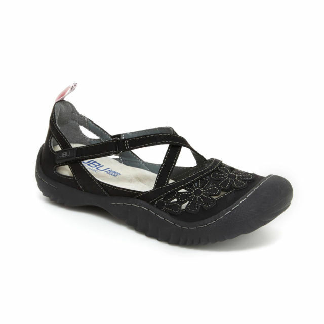 JBU by Jambu Blossom Vegan Women's Wildflower Black Mary Jane Sport shoe 7.5 US