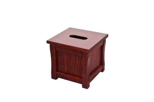 """Oak Wooden tissue box /""""cube/"""" holder NEW Mission style TE-1366"""