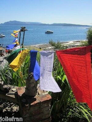 XLG & LONG SUPERIOR INDIVIDUALLY WRAPPED COTTON 25 PRAYER FLAGS TIBETAN BUDDHIST