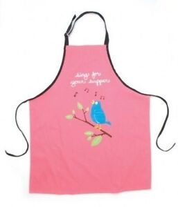 Hatley-100-Cotton-Apron-SING-FOR-YOUR-SUPPER-Blue-Song-Bird-Music-Party-Chef-039-s