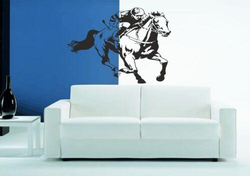 Horse Racing Jockey 4 Wall Sticker Vinyl Graphic Decal Wall Art Transfer