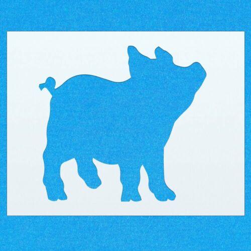Lechón Animal De Granja Mylar Pintura Pared stencil Art Decoración del hogar Hazlo tú mismo Arte Manualidades