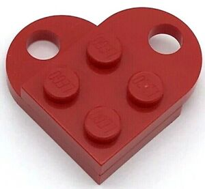 LEGO NEW RED VALENTINES DAY HEART LOVE TOKEN CHARM NECKLACE PIECE