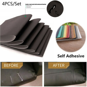 4 Pcs Leather Repair Patch Kit Car Seat Upholstery Filler