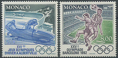 Barcelona Olympics Sc#1802-1803 Mnh Verhindern Dass Haare Vergrau Werden Und Helfen Den Teint Zu Erhalten 1992 Monaco Nr.1811/1812 Olympische Spiele