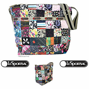 LeSportsac-LePatch-Small-Cleo-Crossbody-Bag-Anniversary-Pattern-Free-Ship-NWT