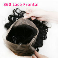 360 Closure Filipino Virgin Hair Lace Closure Body Wavy Virgin Human Hair Weave