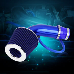 Aluminum Induction Hose Kit for Cold Air Filter Universal Direct 76mm 3 inch Car Intake Filter Blue