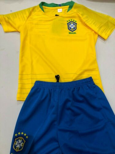 Brazil kids football world cup 2018 jersey and shorts brand new