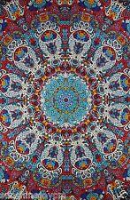 "3D Glow In The Dark Sunburst Tapestry Beach Sheet Psychedelic Wall Art 90x60"""