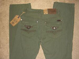 SEVEN 7 Relaxed Flap Pkts Straight Leg Green Khaki Pants Mens Sz ...