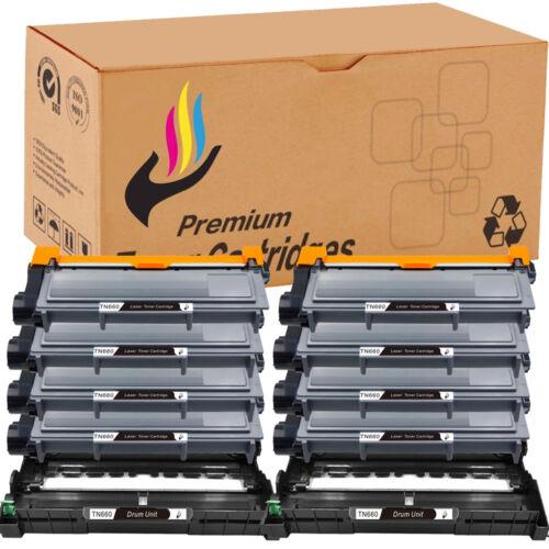 8 TN660 Toner For Brother DR660 HL-L2300D L2380DW MFC-L2700DW 10x 2 DR630 Drum